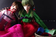 korea bjd doll        doll name is yeondu    yenimdoll's sd doll (57cm)    korea traditional dress hanbok