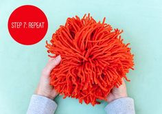 I'm a huge fan of pom-poms, so I'm thrilled to be able to share a technique with you for making giant pom-poms in 60 seconds flat.