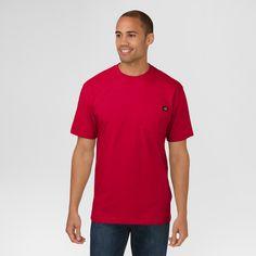 Dickies Cotton Heavyweight Short Sleeve Pocket T-Shirt- English Red M