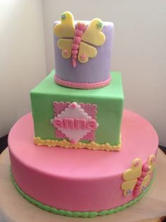 Spring butterfly cake