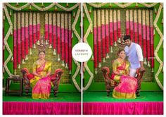 couple poses for indian wedding photography Wedding Backdrop Design, Wedding Hall Decorations, Wedding Reception Backdrop, Marriage Decoration, Engagement Decorations, Wedding Mandap, Backdrop Decorations, Festival Decorations, Flower Decorations