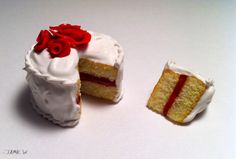 Polymer Clay Cake by VisualJamie.deviantart.com on @deviantART