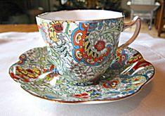 Vintage Rosina bone china paisley design English teacup for sale at More Than McCoy on TIAS!
