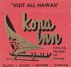 Kona Inn Matchcover Hawaii