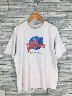 ea6a281620 Vintage PLANET HOLLYWOOD Tshirt Xlarge 90 s Planet Hollywood San Francisco  Usa Save The Planet Hard Rock Gray Tshirt Size XL