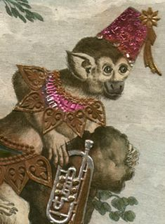 George Glazer Gallery, New York City. Antique prints, maps and globes. Monkeys with Added Costumes and Instruments Antique Prints, Vintage Prints, Metallic Paper, Monkey Business, Natural History, Monkeys, Lovers Art, Musical Instruments, Artsy Fartsy