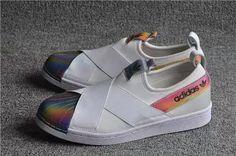 6215cd3b0083 Adidas x Rita Ora Superstars Slip On W White Hologram Iridescent