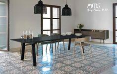 MITIS, table de repas MTS104, Chêne teinté Ebène, 240x100x75 cm, PUNT Mobles