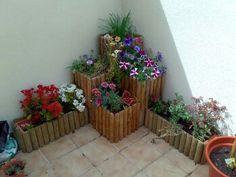 Jardineras de madera on pinterest pallet gardening - Jardineras de madera ...