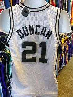 Vintage #21 TIM DUNCAN San Antonio Spurs NBA Nike Jersey YM