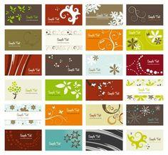 flower card background vector