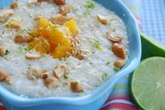 Coconut and Lime Rice Pudding with Mangoes and Cashews, a recipe on Food52