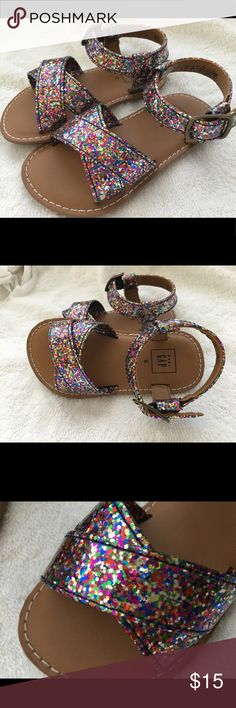 Baby Gap Sandals Baby Gap Toddler size 6 chunky multicolor glitter sandals. New without tags. GAP Shoes Sandals & Flip Flops