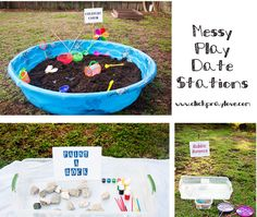 Staycation: Messy Play Date Ideas