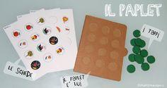 Il paplet - paper tablet. Schede da scaricare per giocare e imparare. Materiali: cartone e tappi di plastica