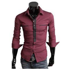 ong-sleeved dress shirt