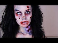 Zombie Makeup Tutorial -- How To Do Easy Zombie Makeup