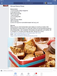 Microwave Food, Microwave Recipes, Cooking Recipes, Rusk Recipe, Cake Recipes, Dessert Recipes, South African Recipes, Recipe Today, Different Recipes