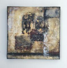 18 x 18 encaustic on birch panel