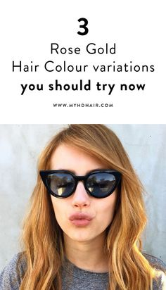 3 variations of Rose Gold Hair Colours who's softer Copper and Violets reflects suit more skin tones than their more vibrant Colour cousins. Violet Hair Colors, Gold Hair Colors, Teal Hair, Rose Gold Hair, New Hair Colors, Cool Hair Color, Turquoise Hair, Bright Hair, White Hair