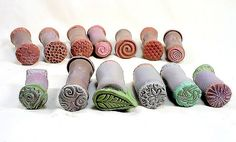 Make your own stamps - clay Texture Sticks by Harrison Hollow Designs, via Flickr