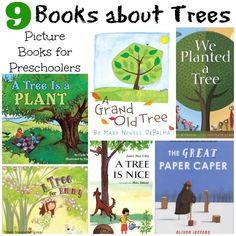 Fun children's books about trees for preschoolers! Colorful and engaging books that teach children about trees and the environment.