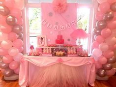 Teacups and Trucks 's Baby Shower / Pink Ballerina - Ballerina Baby Shower at Catch My Party Ballerina Party Decorations, Birthday Decorations At Home, Baby Shower Decorations, Candy Theme Birthday Party, Ballerina Birthday Parties, Gold Birthday, Birthday Nails, Elephant Baby Showers, Gold Baby Showers