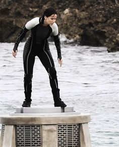 Katniss in the arena for Catching Fire.