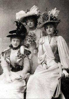 via FB Patrician Designs-Victorian Dresses and Re-enactment Clothes    The 1890s Gaiety Girls were respectable, elegant young ladies, unlike the corseted actresses from London's earlier musical burlesques