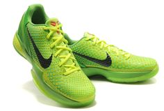 59cd15d5f197 Nike Zoom Kobe 6 VI Grinch Christmas Green Mamba