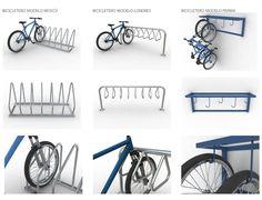 Bike Rack by Inducrom inducrom. Iron Furniture, Street Furniture, Furniture Plans, Bicycle Storage, Bicycle Rack, Rack Velo, Cycle Stand, Bike Parking, Rack Design