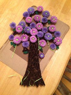 Quilling Purple flower tree