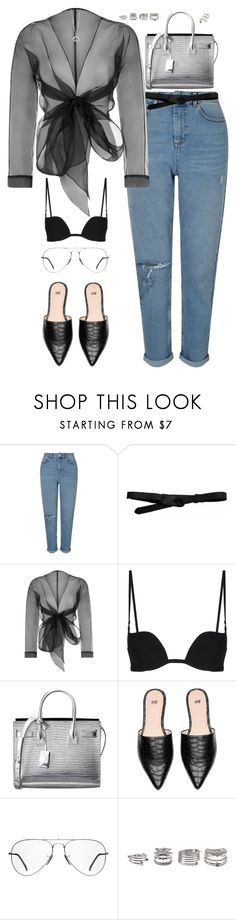 """""""Untitled #2997"""" by briarachele on Polyvore featuring Miss Selfridge, Lowie, Bianca Elgar, Yves Saint Laurent, Ray-Ban, Elsa Peretti, Forever 21 and ASOS"""