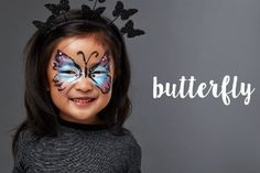 Give your little one wings with this easy and oh-so-pretty butterfly face painting tutorial.