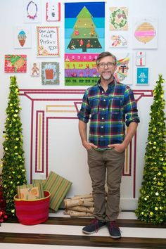 I want to make an advent calendar like that one! - Todd Oldham Wishes You An Art-Filled Holiday