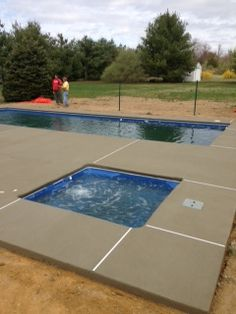 The finishing of the pool and spa decking.