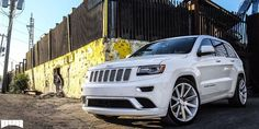 See Dub Shot Calla Brushed White Face 22 Wheels, Wheels And Tires, Grand Cherokee Overland, Jeep Grand Cherokee, Brand Names And Logos, Wheel And Tire Packages, Truck Accessories, West Palm Beach, Mopar
