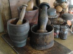 # 12.  mortars and pestles!  I want a hand turned wooden one like my Dad made for his mom so many years ago.