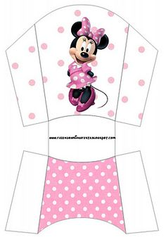 Minni in Rose Polka Dots: Free Printable Party Boxes.