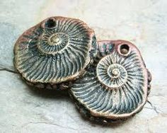 Image result for polymer clay and copper wire ammonite