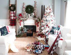 Craftberry Bush | Christmas Mantel 2015 | http://www.craftberrybush.com