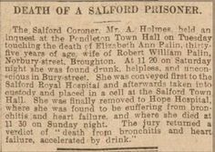Palin Family History and Research: Week Eighteen: Death of a Salford Prisoner