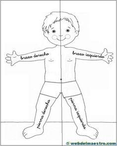 lateralidad: recortar Preschool Worksheets, Toddler Activities, Preschool Activities, Early Education, Teaching Math, Pre School, Homeschool, Dfs, Body Image