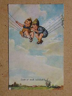 He really loves me? Wally Fialkowska. 1920s German Art PC