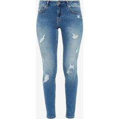 Ted Baker Ripped skinny jeans (€105) ❤ liked on Polyvore featuring jeans, pants, bottoms, calças, jeans/pants, skinny jeans, distressing jeans, torn jeans, denim skinny jeans and skinny fit jeans