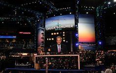 NY Senator Chuck Schumer addresses the DNC, 5 September 2012.