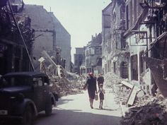Cologne/Köln after 1945 Eifel, Cologne Germany, Old City, World War Two, Ww2, Street View, Europe, History, Places