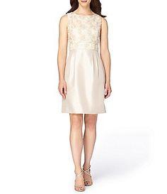 a2cf63dcadf Tahari ASL Petite Lace-Bodice Shantung Sheath Dress Dress For Petite Women