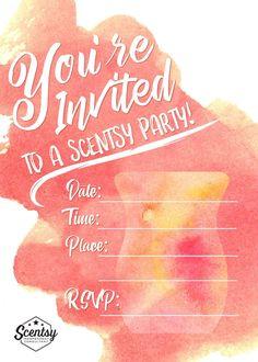 #Scentsy #partyinvitation