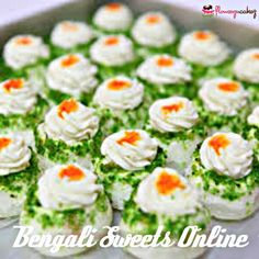 A festive occasion, birthday party or a wedding anniversary remains incomplete without the presence of sweets. Bengali New Year, Wedding Anniversary, Sushi, Christmas Gifts, Sweets, Ethnic Recipes, Party, Festive, Birthday